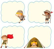 Bannière vierge camping enfants vecteur