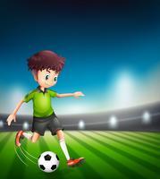 Un joueur de football