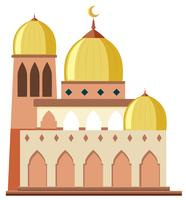 Une belle mosquée sur fond blanc