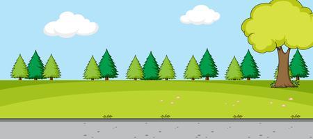 Un paysage de nature simple vecteur