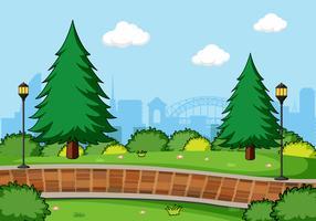 Un paysage de parc simple vecteur