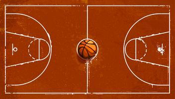 Terrain de basketball grunge