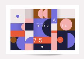 Vecteur d'affiche géométrique abstraite