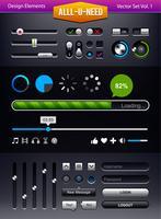 Ensemble de vecteur d'éléments d'interface utilisateur