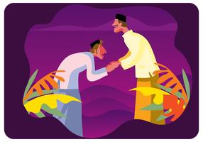 Eid Mubarak Vecteur Illustration