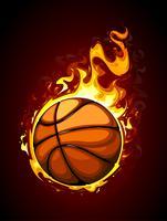 Basketball brûlant vecteur