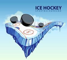 patinoire de hockey surréaliste vecteur
