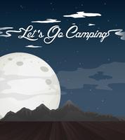 Vue de fond avec thème de camping vecteur