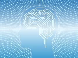 Illustration de concept d'intelligence artificielle. vecteur