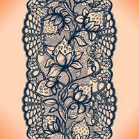 Abstrait motif de dentelle transparente avec des fleurs, des feuilles et des fraises. Papier peint infiniment, décoration de vêtement pour votre conception vecteur