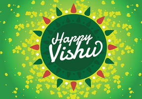 Conception d'affiche Happy Vishu