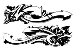 Arrière-plans de graffitis noir et blanc vecteur