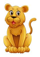 Lionceau avec visage heureux