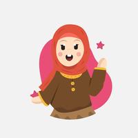 Vecteur d'enfants musulmans