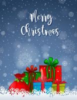 Un modèle de carte de joyeux Noël