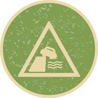 Route de vecteur mène à l'icône de quai ou de la rive du fleuve