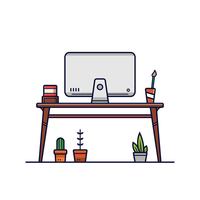 Vecteur de bureau à domicile