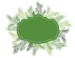Illustration vectorielle vert Fond de cadre de Noël avec des branches de sapin