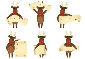 Winking Reindeer Banner Vector Pack