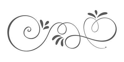 Éléments de design s'épanouir printemps calligraphie dessinés à la main de vecteur. Décor floral de style lumière pour le Web, le mariage et l'impression. Isolé sur fond blanc calligraphie et lettrage illustration
