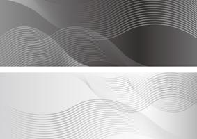 Fond rectangle serti de motifs ondulés. vecteur