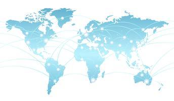 Carte transparente du système de réseau mondial. vecteur