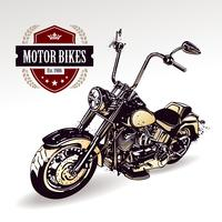 Moto custom chopper vecteur