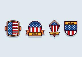 Drapeau américain set vector