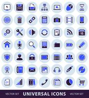 icônes universelles simples d'ordinateur