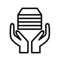 icône de vecteur d'acception