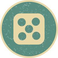 Dés cinq vecteur icône