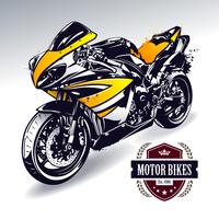 Moto sport vecteur