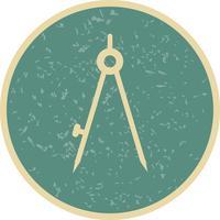 Boussole vecteur icône