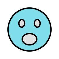 Emoji vecteur surpris