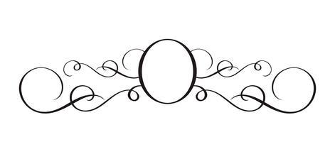 Séparateur calligraphique dessiné main Vector. Élément de conception de printemps Flourish. Décor floral de style lumière pour cartes de voeux, web, mariage et impression. Isolé sur fond blanc calligraphie et lettrage illustration