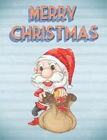 Affiche de Noël rétro vecteur