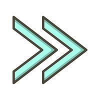 icône de vecteur avant