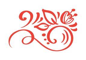 Éléments de design automne floral dessinés à la main, isolés sur fond blanc pour design rétro. Calligraphie de vecteur et lettrage