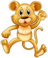 Joli petit lion sautant vecteur