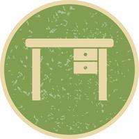 Icône de vecteur de table d'étude