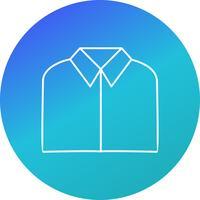 Icône de vecteur de chemise scolaire