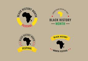 Label Mois de l'histoire des Noirs vecteur