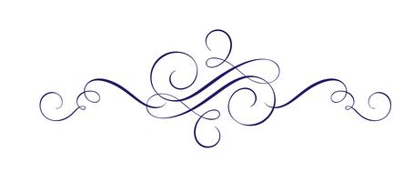 Élément de conception de vecteur dessiné main calligraphique s'épanouir. Décor de style léger tourbillonnant pour sectificate, web, mariage et impression. Isolé sur fond blanc calligraphie et lettrage illustration