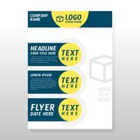 Conception de brochures commerciales vecteur