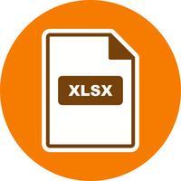Icône de vecteur XLSX