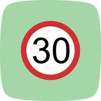 Icône de vecteur vitesse limite 30
