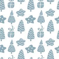 Modèle sans couture de vecteur de Noël dans un style scandinave. Idéal pour l'oreiller, la typographie, les rideaux