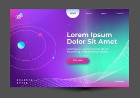 Abstrait Galaxy Landing Page Vector Background