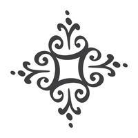 Signe de flocons de neige scandinave handdraw. Élément de design hiver Illustration vectorielle. Icône de flocon de neige noir isolé sur fond blanc. Silhouettes de flocon de neige. Symbole de neige, vacances, temps froid, gel vecteur
