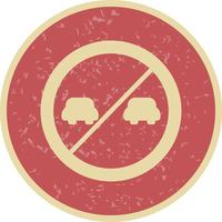 Icône de dépassement de vecteur interdite